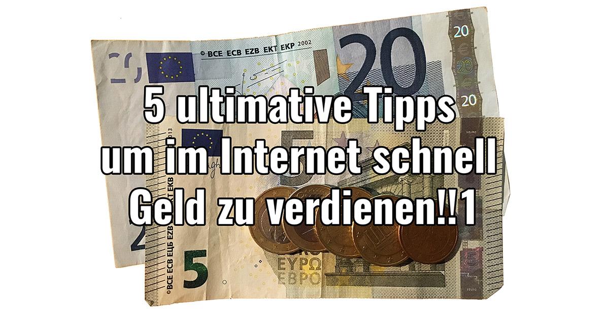 tipps um geld zu verdienen