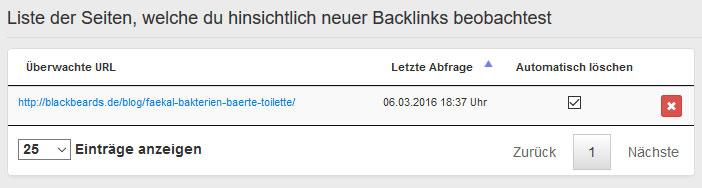 Neue Backlinks beobachten