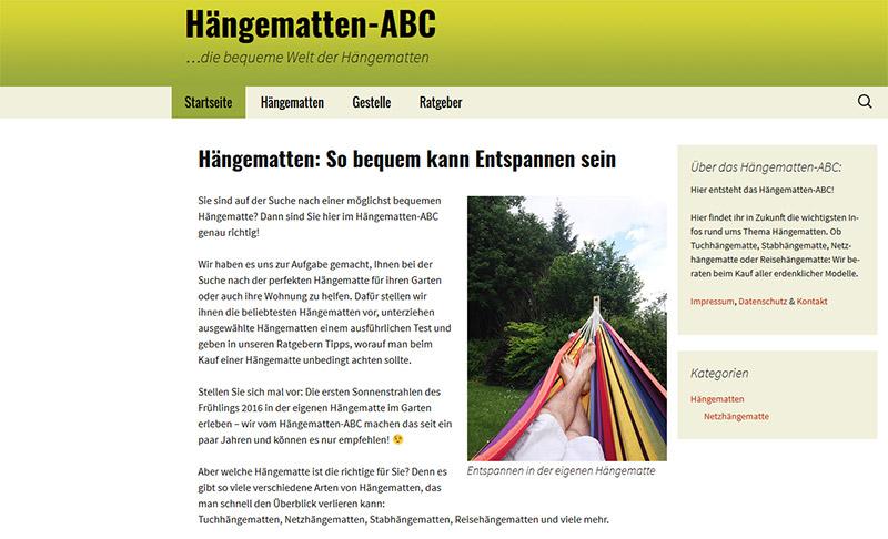Startseite Hängematten-ABC