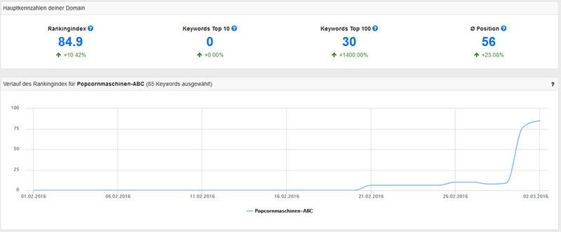 Das Monitoring-Dashboard von PageRangers