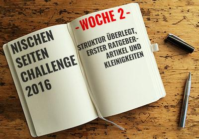 Nischenseiten-Challenge 2016 Woche 2