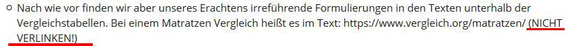 """testbericht Beitrag """"NICHT VERLINKEN"""""""