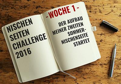 Nischenseiten-Challenge 2016 Woche 1