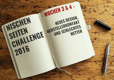 NSC 2016 Wochenberichte 3 & 4
