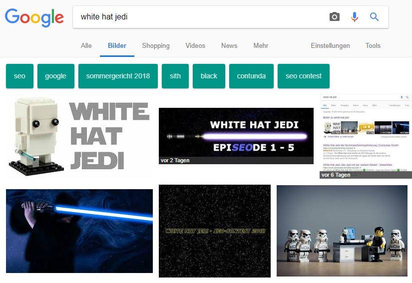 White Hat Jedi Bild in der Google Bildersuche